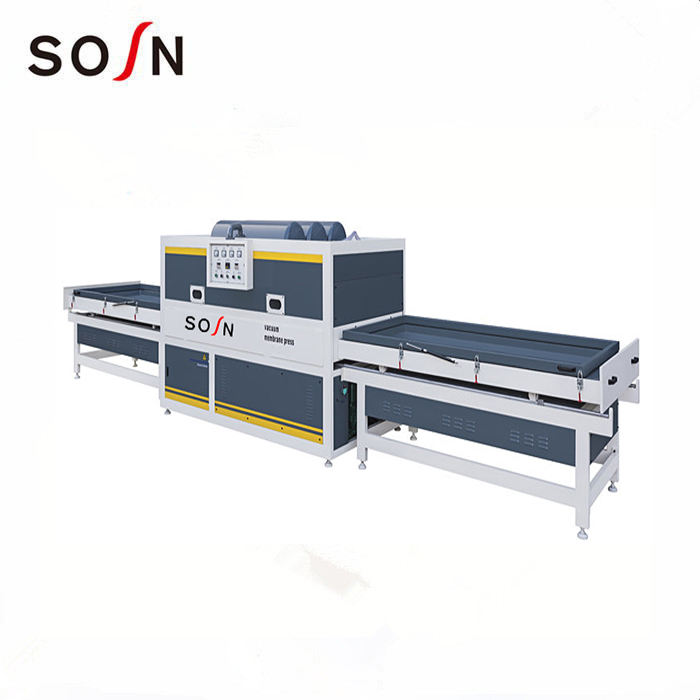 FM2300A-2/2Z  two worktable semi and automatic vacuum membrane press